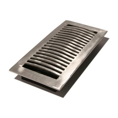 Hampton Bay | 4 Inch X 10 Inch Satin Nickel Louvered Dome Floor Register | Home Depot Canada | Floor Registers, Flooring, Brown Decor
