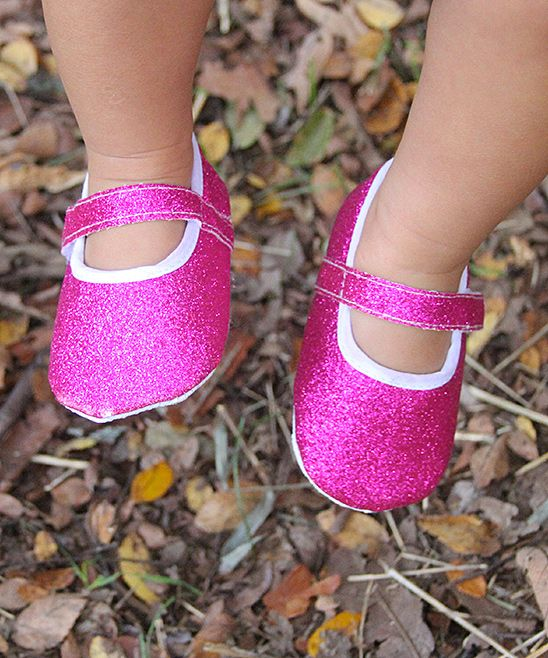 Hot Pink Glitter Mary Jane | Daily deals for moms, babies and kids