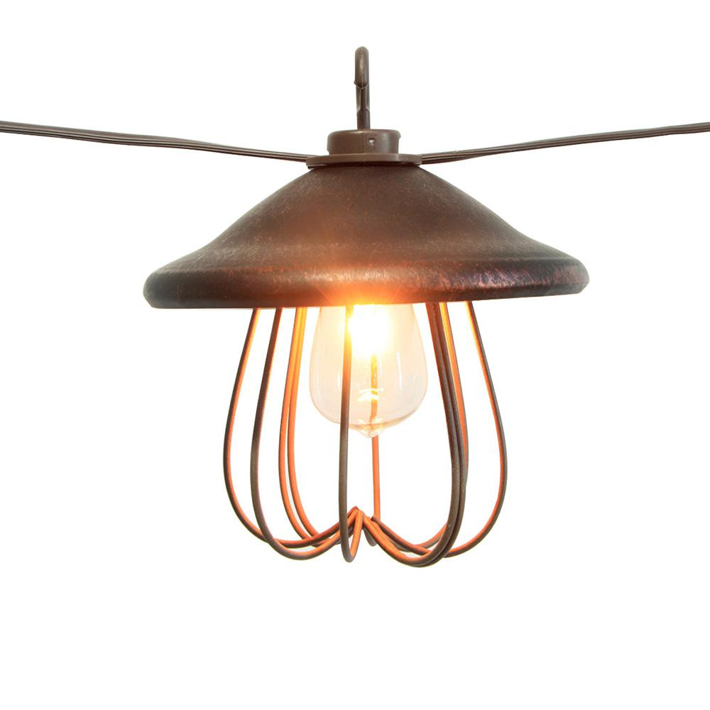String Lights Home Depot Classy Hampton Bay 8Light Decorative Bronzed Patio Cafe String Light Design Decoration