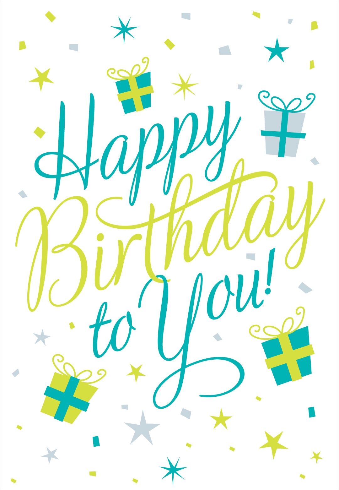Free Printable Happy Birthday To You Greeting Card Birthday