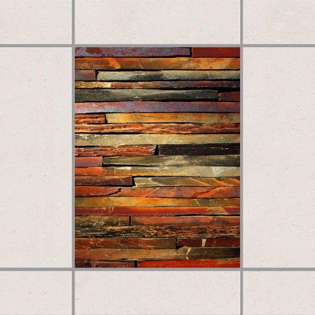 Fliesenaufkleber - Bretterstapel 20cm x 15cm #Fliesensticker - holz in kuche und bad