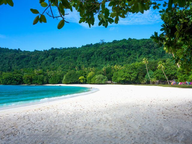 Tropical Island Beach Ambience Sound: Champagne Beach, Espiritu Santo, Vanuatu