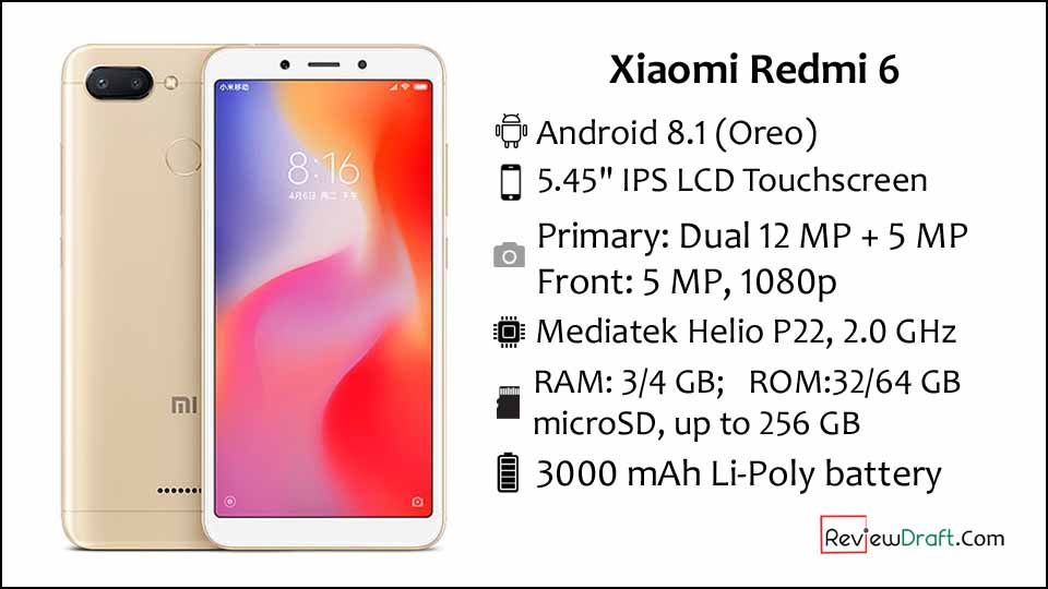 Xiaomi Redmi 6 Price In Bangladesh Full Specification Review Draft Xiaomi Phone Codes Phone