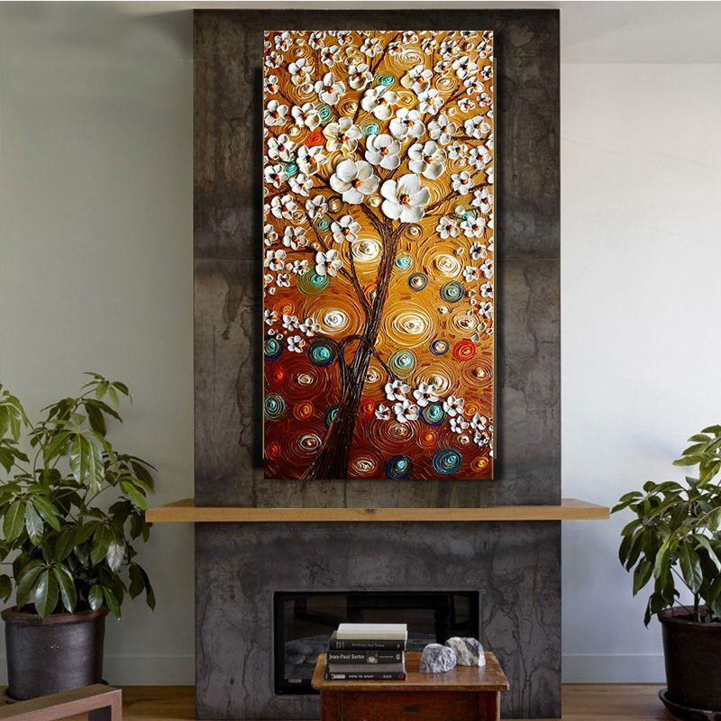 hot sale fleur abstraite peinture l 39 huile couteau peinture sur toile mur de toile art photo. Black Bedroom Furniture Sets. Home Design Ideas