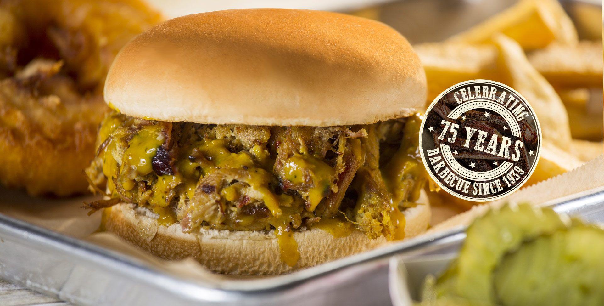 MELVIN'S Barbecue, Charleston, SC, BBQ Ribs, Burgers