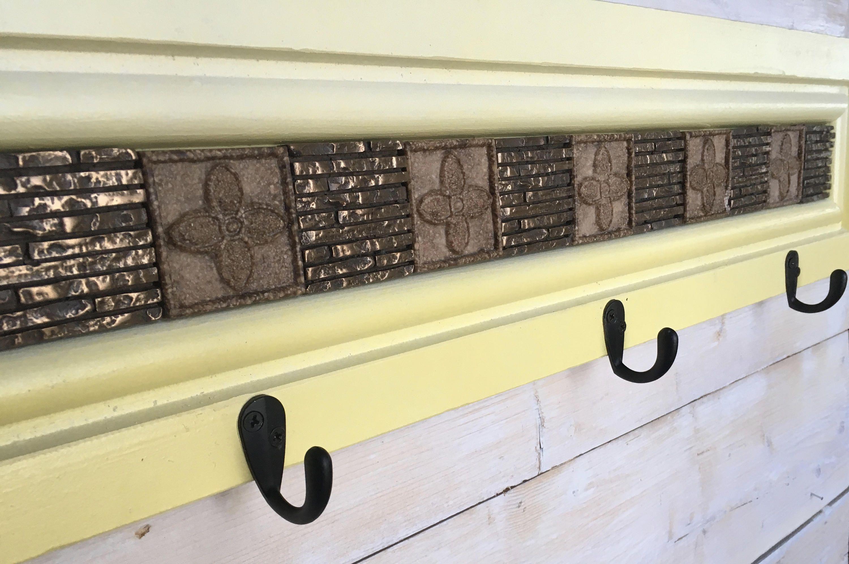Yellow Decorative Coat Rack / Modern Coat Rack / Tuscan Decor / Wall ...