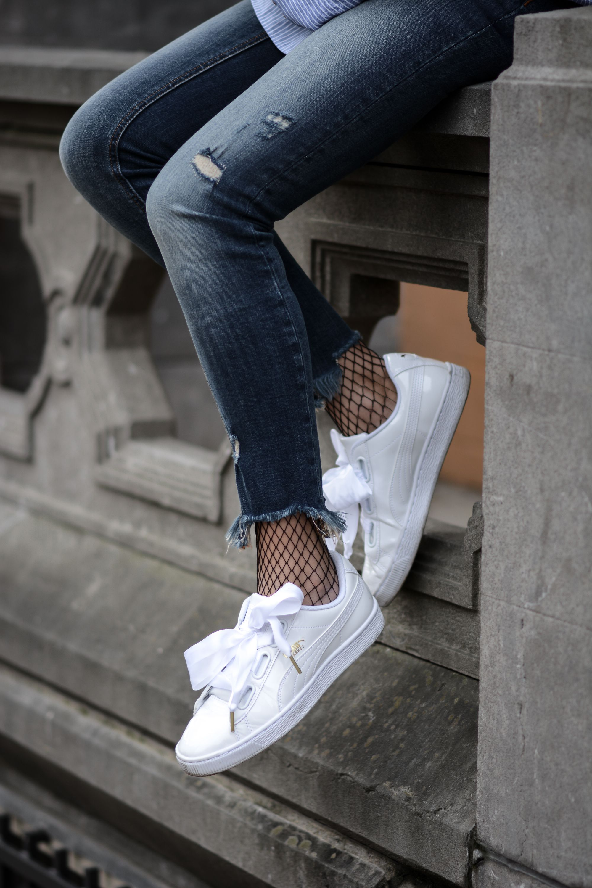 Baskets Puma Heart blanches et noires | DefShop France Blog