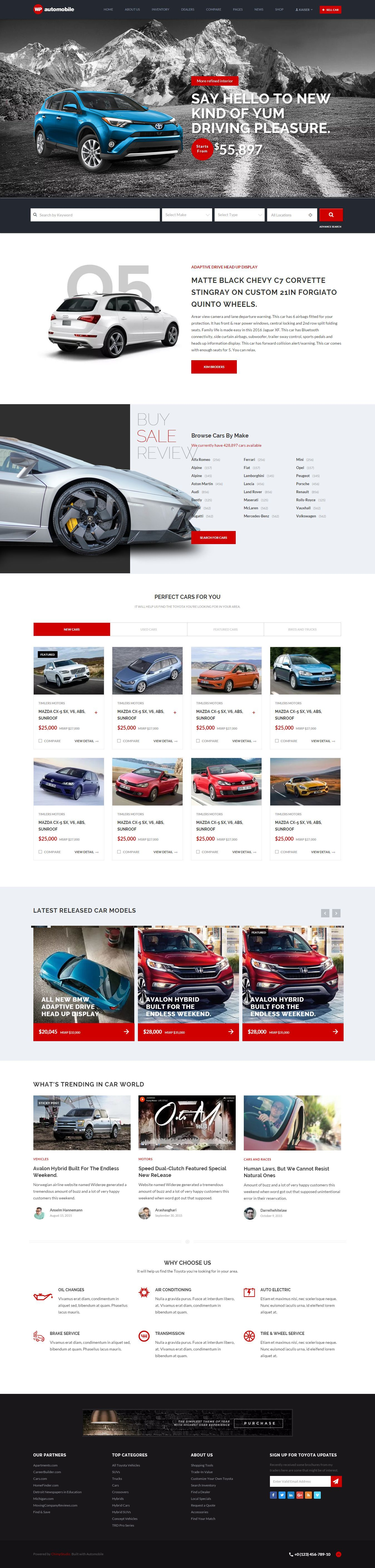 AutoMobile | Responsive Car Dealer HTML Template | Vehicle, Template ...