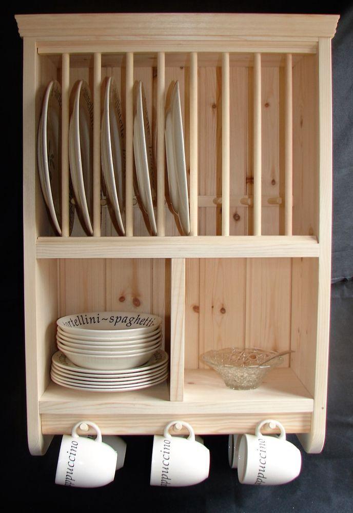 Burscough Traditional Hand Crafted Solid Pine Plate Rack Ideias De Decoracao Para Casa Decoracao Cozinha Criativa Moveis De Paletes
