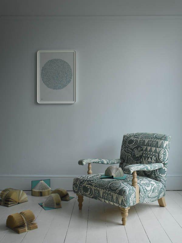 kilkenny armchair in bird garden by mark hearld