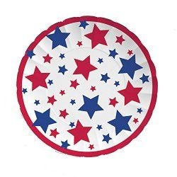 Patriotic Stars Paper Plates  sc 1 st  Pinterest & Patriotic Stars Paper Plates | Cup Crafts | Pinterest | Patriotic ...