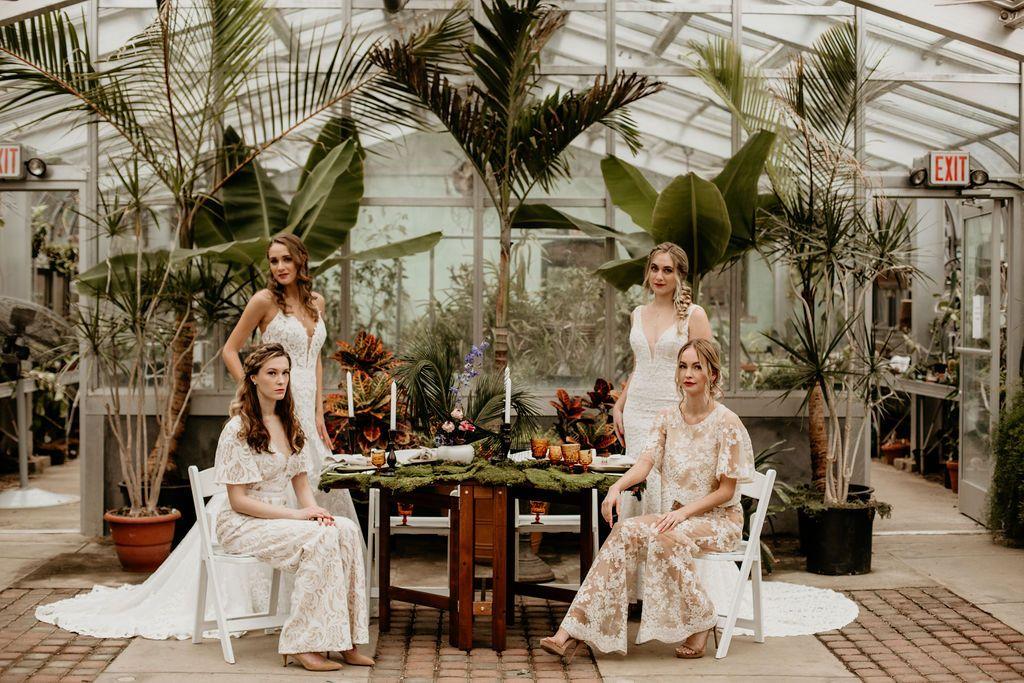 Ct beardsley zoo greenhouse wedding inspired photoshoot w