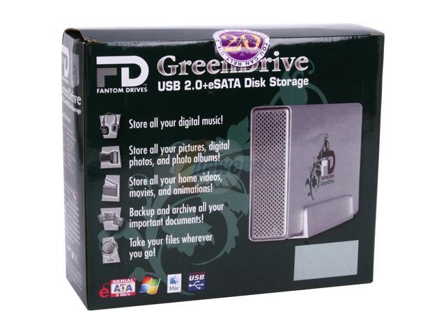 "Fantom 1TB 3.5"" GreenDrive External Hard Drive"