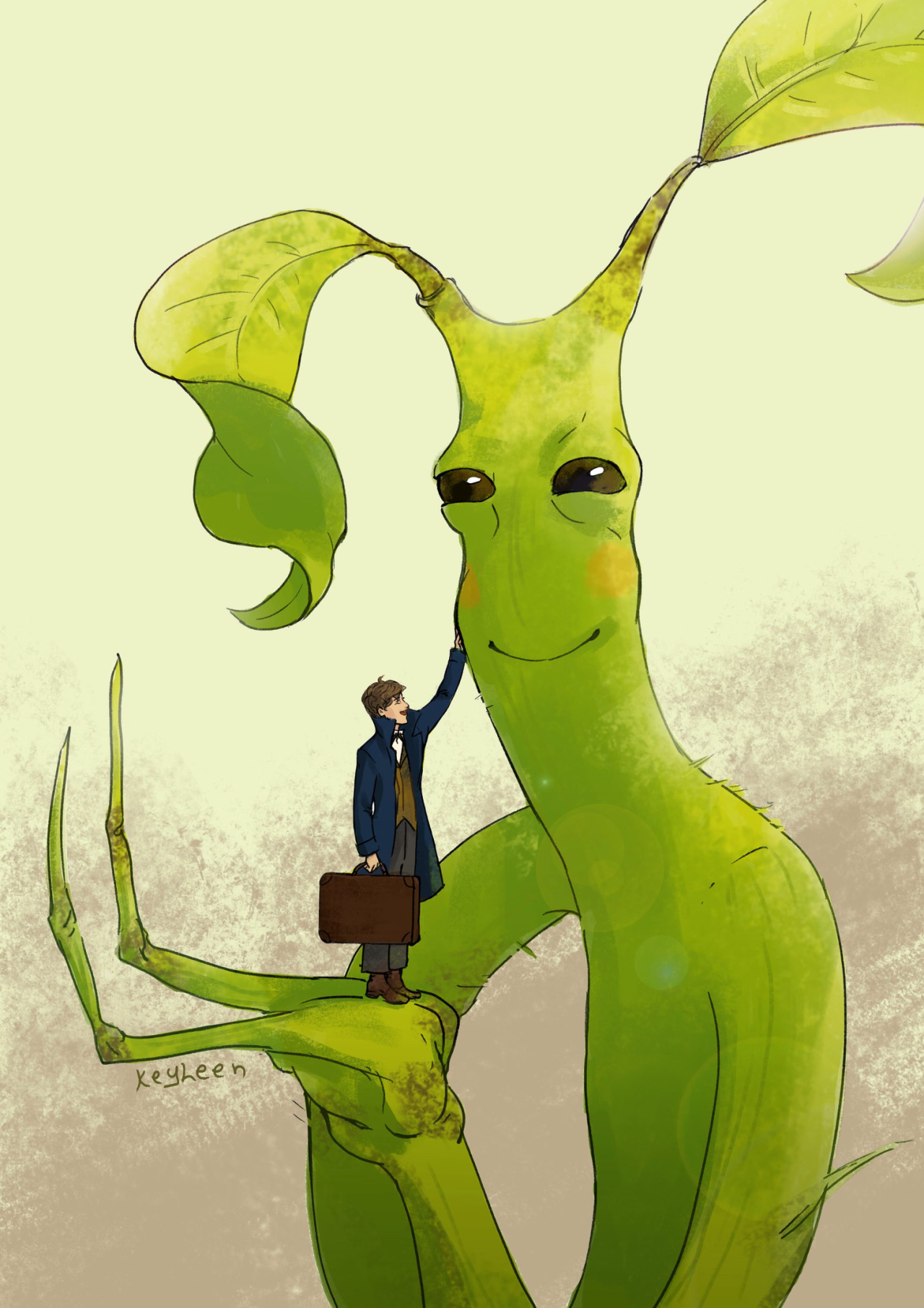 Fantastic Beasts Newt Scamander Bowtruckle Fantastic Beasts Creatures Fantastic Beasts Harry Potter Fantastic Beasts They have long twig fingers or arms, used for digging out wood. fantastic beasts newt scamander