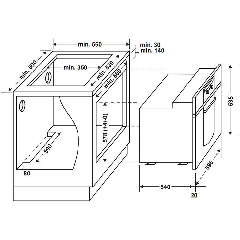Forno Eletrico De Embutir Consul Co060ar 60 Litros Inox