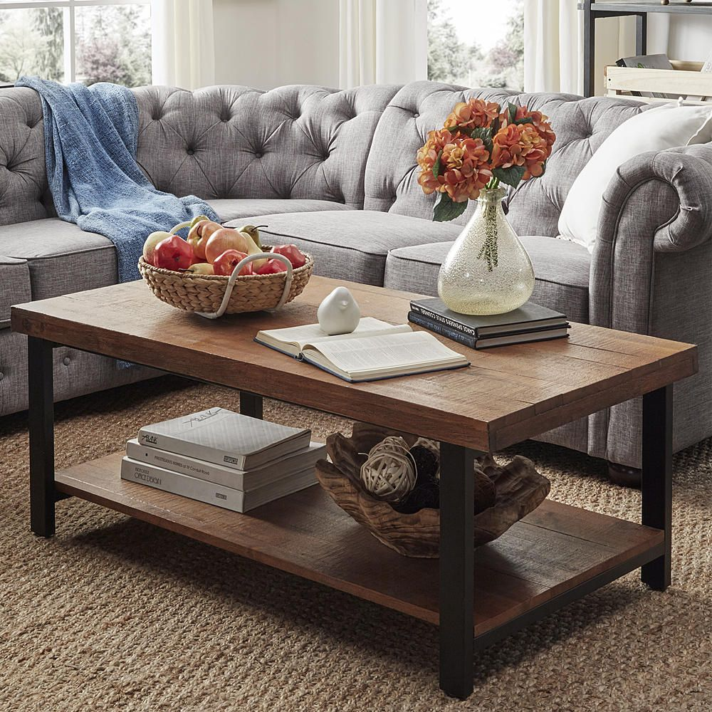 Oxford Creek Tanager Rustic Cocktail Table In Oak Home Furniture Living Room Furniture Coffe Table Decor Living Room Table Sets Modern Living Room Table [ 1000 x 1000 Pixel ]