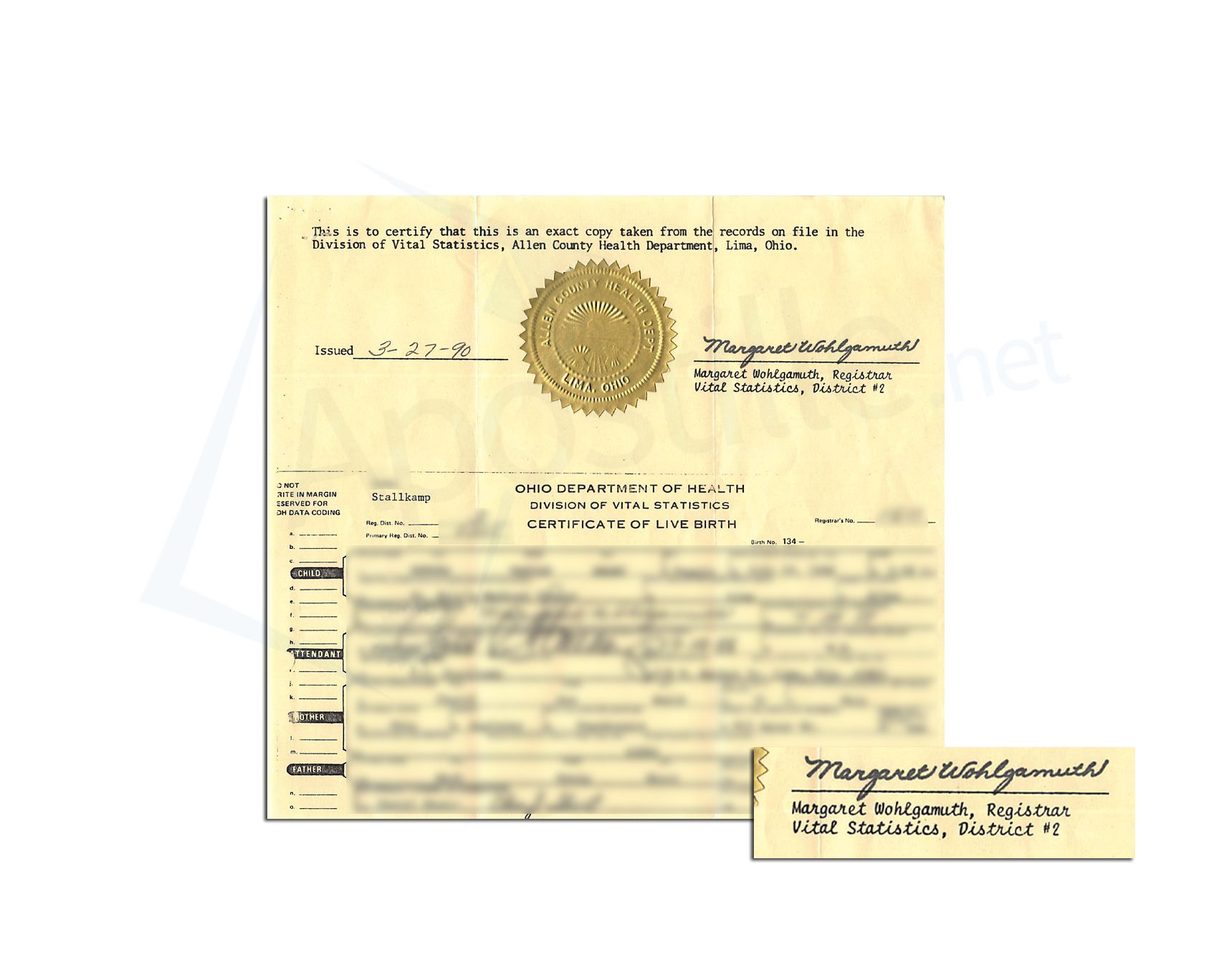 This is a sample of an ohio birth certificate acceptable for this is a sample of an ohio birth certificate acceptable for apostille state of ohio sample apostille pinterest birth certificate and ohio 1betcityfo Image collections