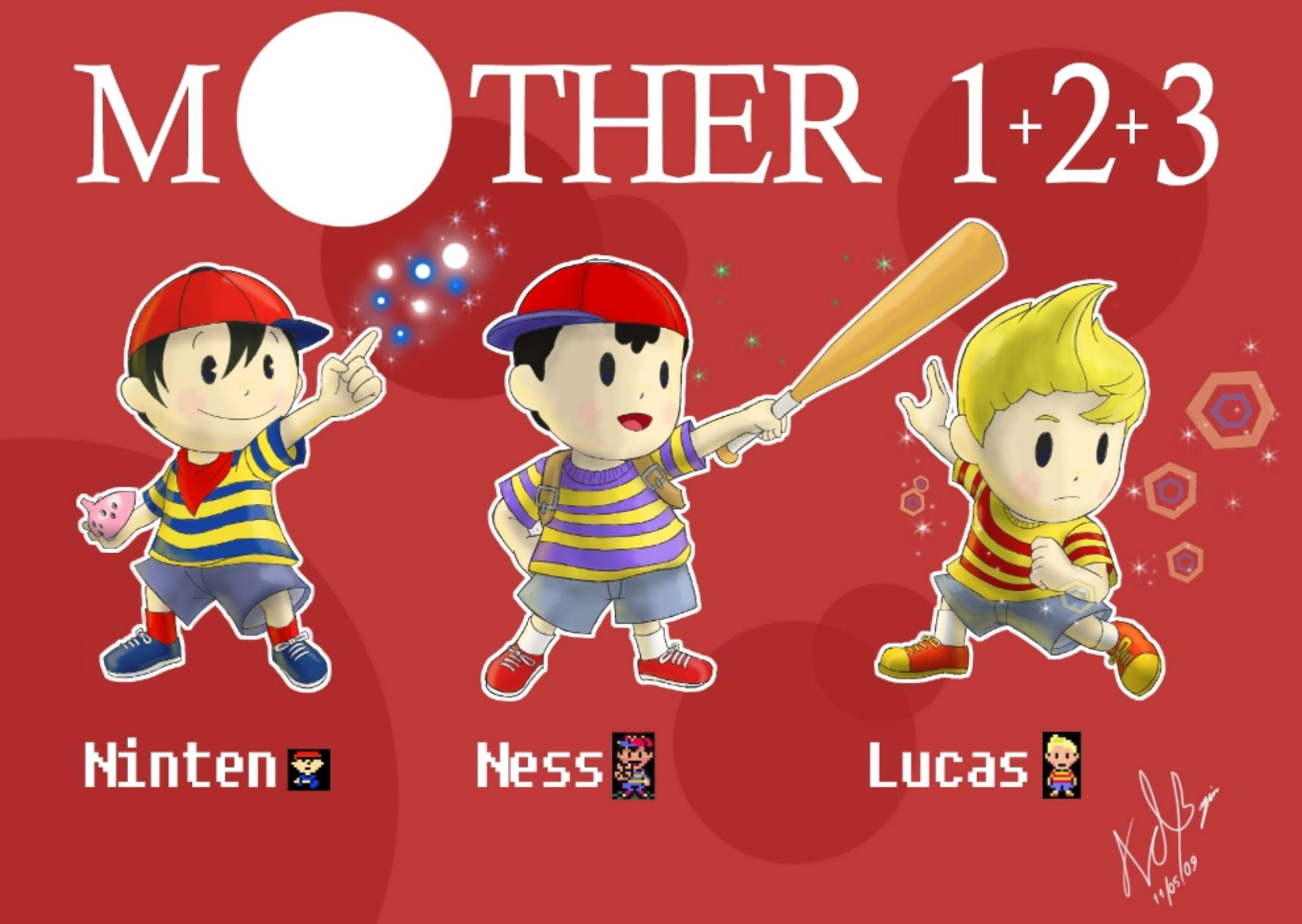 earthbound ness | Mother Earthbound Ness Lucas Ninten