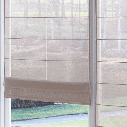 store voile de lin naturel heytens roman blinds roman. Black Bedroom Furniture Sets. Home Design Ideas