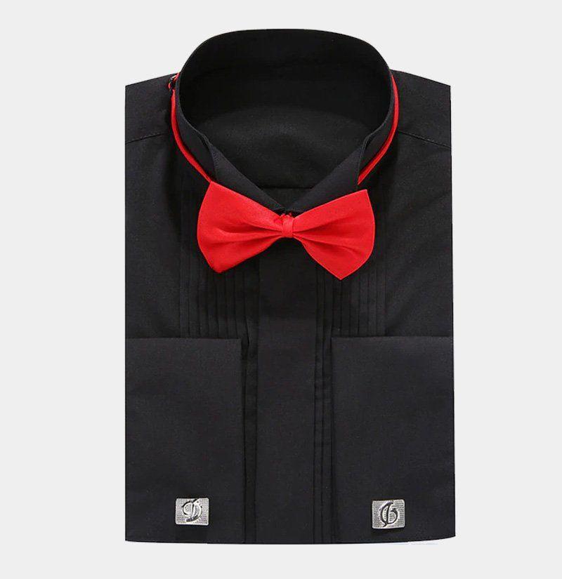 fd0246de8f6 Looking for a black french cuff tuxedo shirt? Shop Gentleman's Guru for  modern high-quality men's tuxedo shirts & formalwear available with FREE  Shipping.