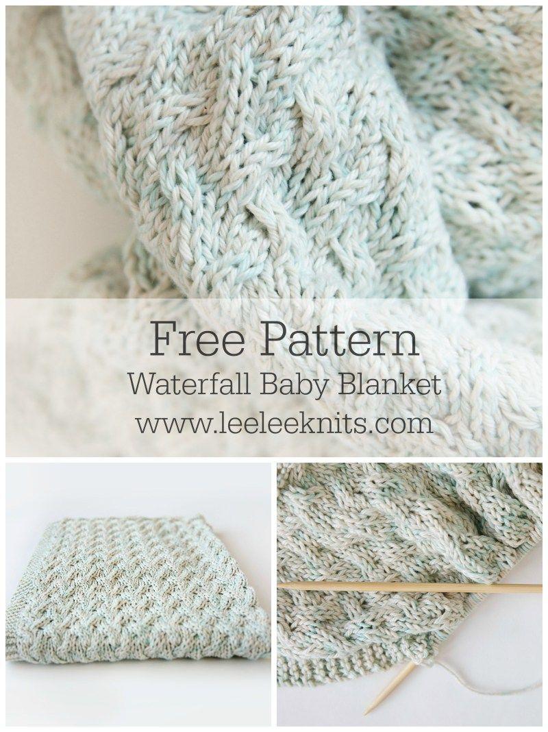 Waterfall Baby Blanket - Leelee Knits | Woobi and Blanks | Pinterest ...