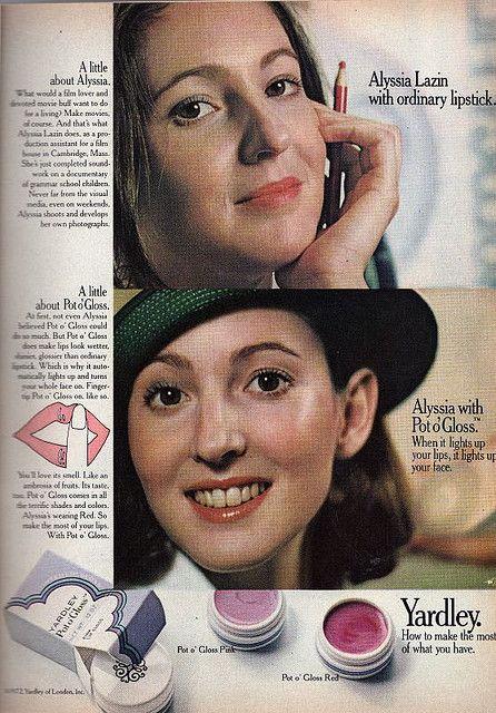 Yardley lip gloss.