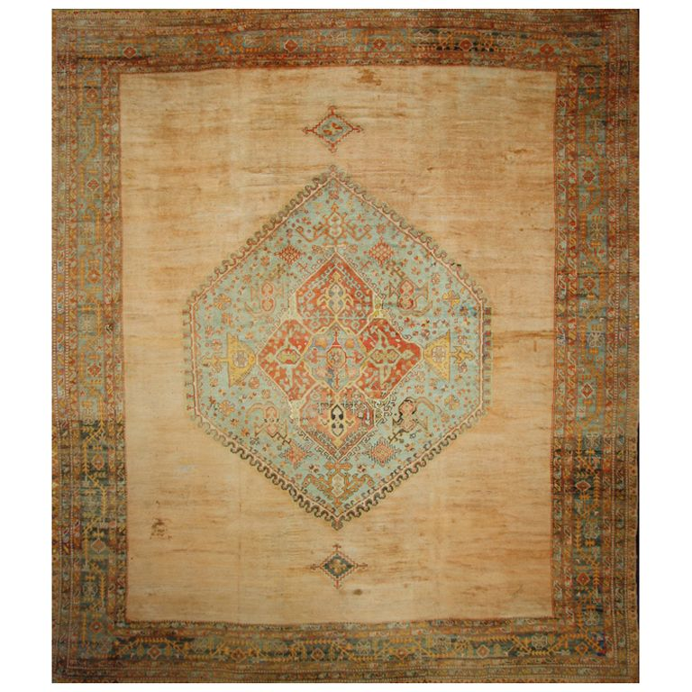 Antique Turkish Oushak Rug With Modern Design In 2020 Oversized Area Rugs Rugs On Carpet Rugs