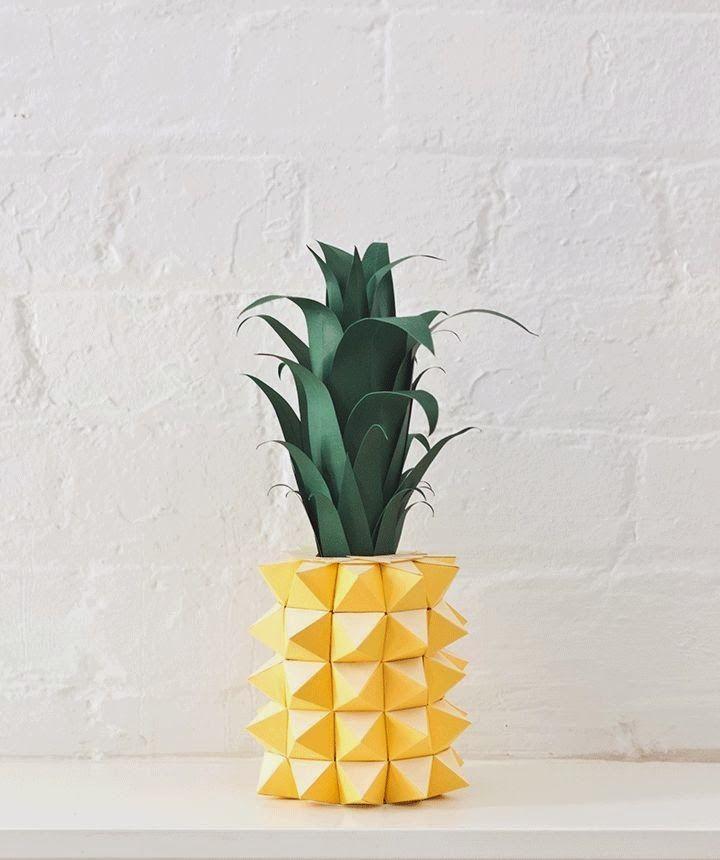 Origami ananas: