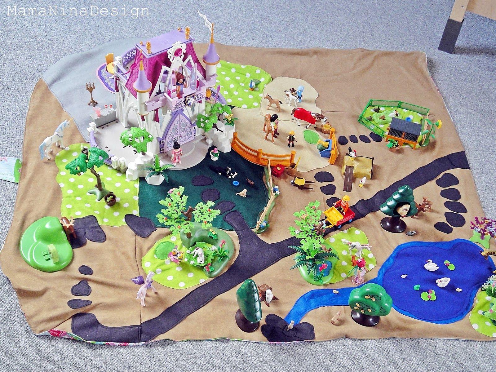 Handmade With Love Genahte Spiellandschaft Nahprojekte Fur Kinder Filz Spielzeuge Playmobil Spielzeug