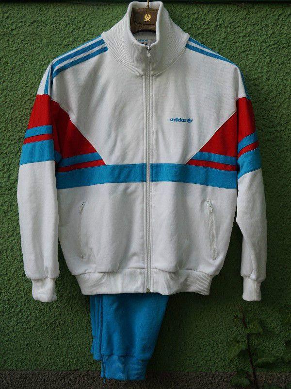 Adidas Vintage Rare Tracksuit White Red Blue Size M | Jaket