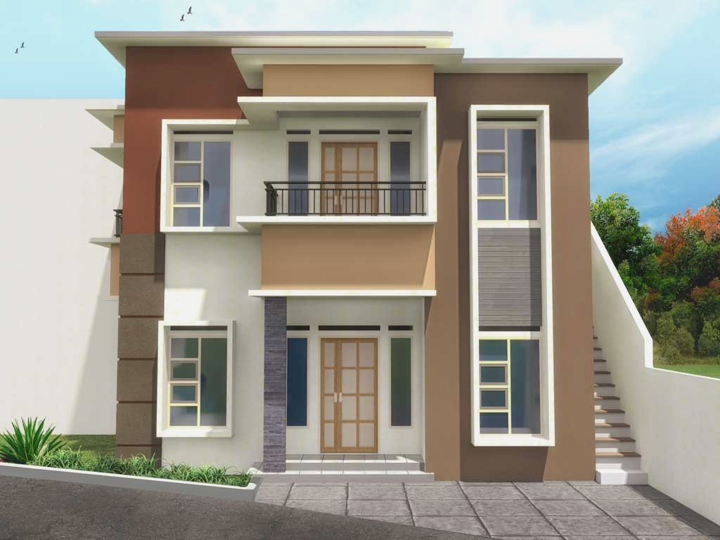 Simple house design with second floor more picture simple for Simple house front design