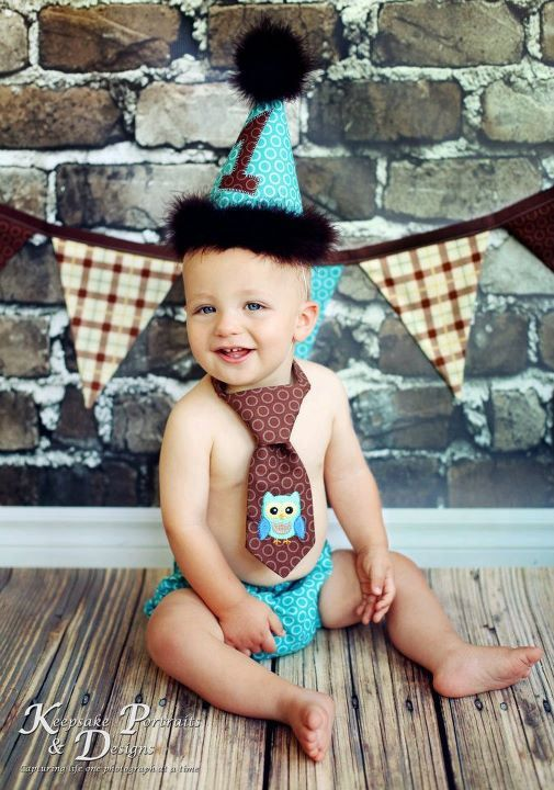 Boys Birthday Party Hat Diaper Cover And Tie By Freshsqueezedbaby 5600