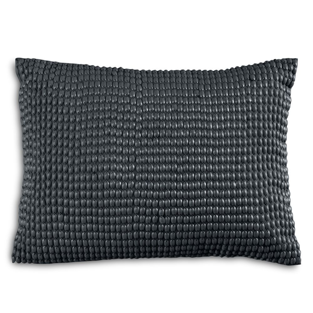 "Dkny Geo Matelasse Beaded Decorative Pillow, 12"" x 16"""