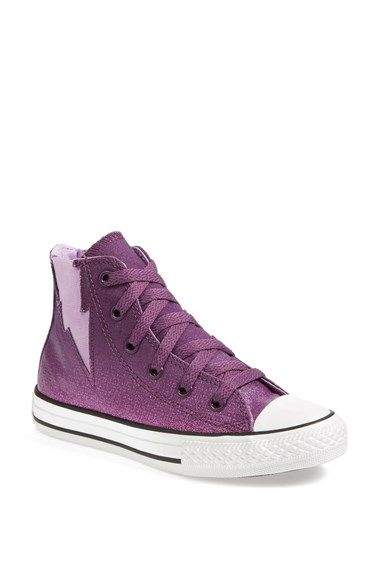 2fe430c29551 Converse Chuck Taylor® All Star®  Sparkle Wash Boltz  High Top Sneaker -  Elderberry Sparkle is Max s favorite color in these fun shoes.
