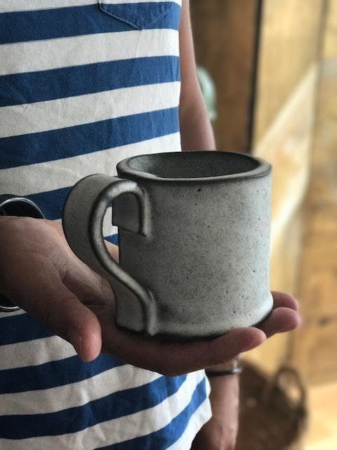 new mug in dark brown clay with white glaze my work pinterestnew mug in dark brown clay with white glaze