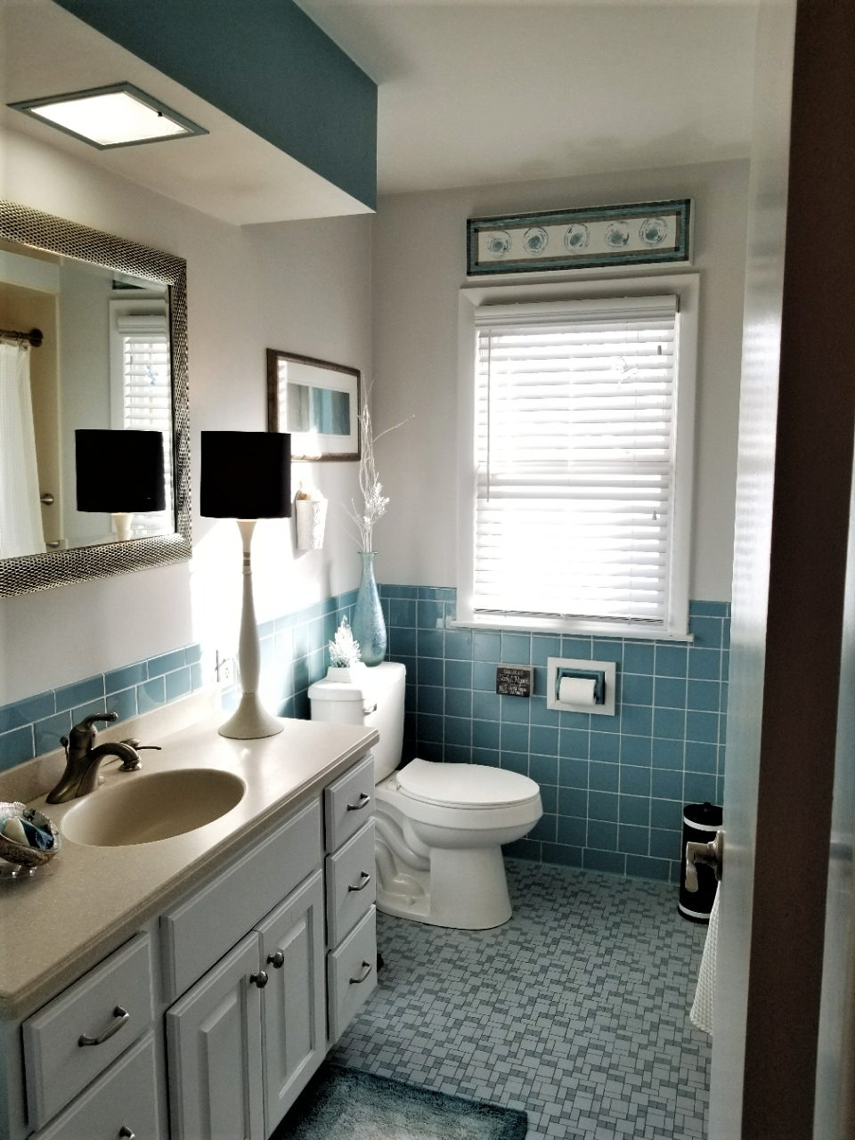 1950's Bathroom update that did not break the bank. (With ...