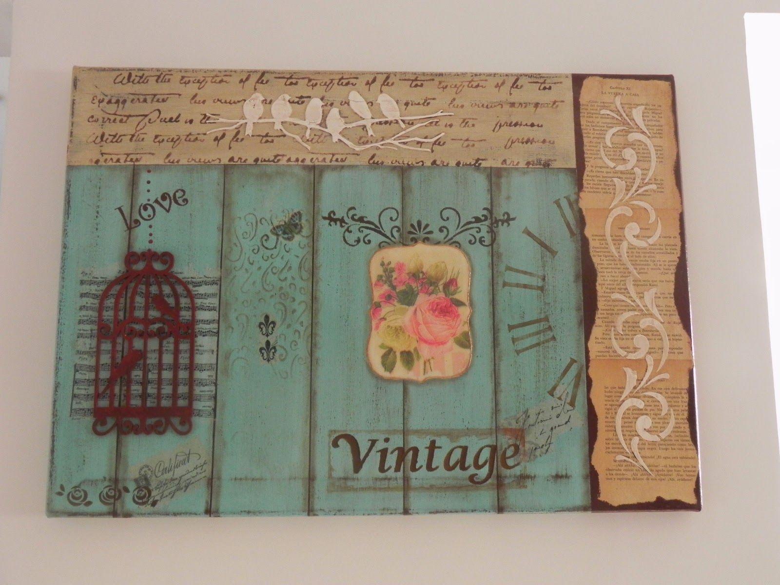 Gabriela albo regalos artesanales cuadro vintage bricolaje y manualidades pinterest - Cuadros shabby chic ...