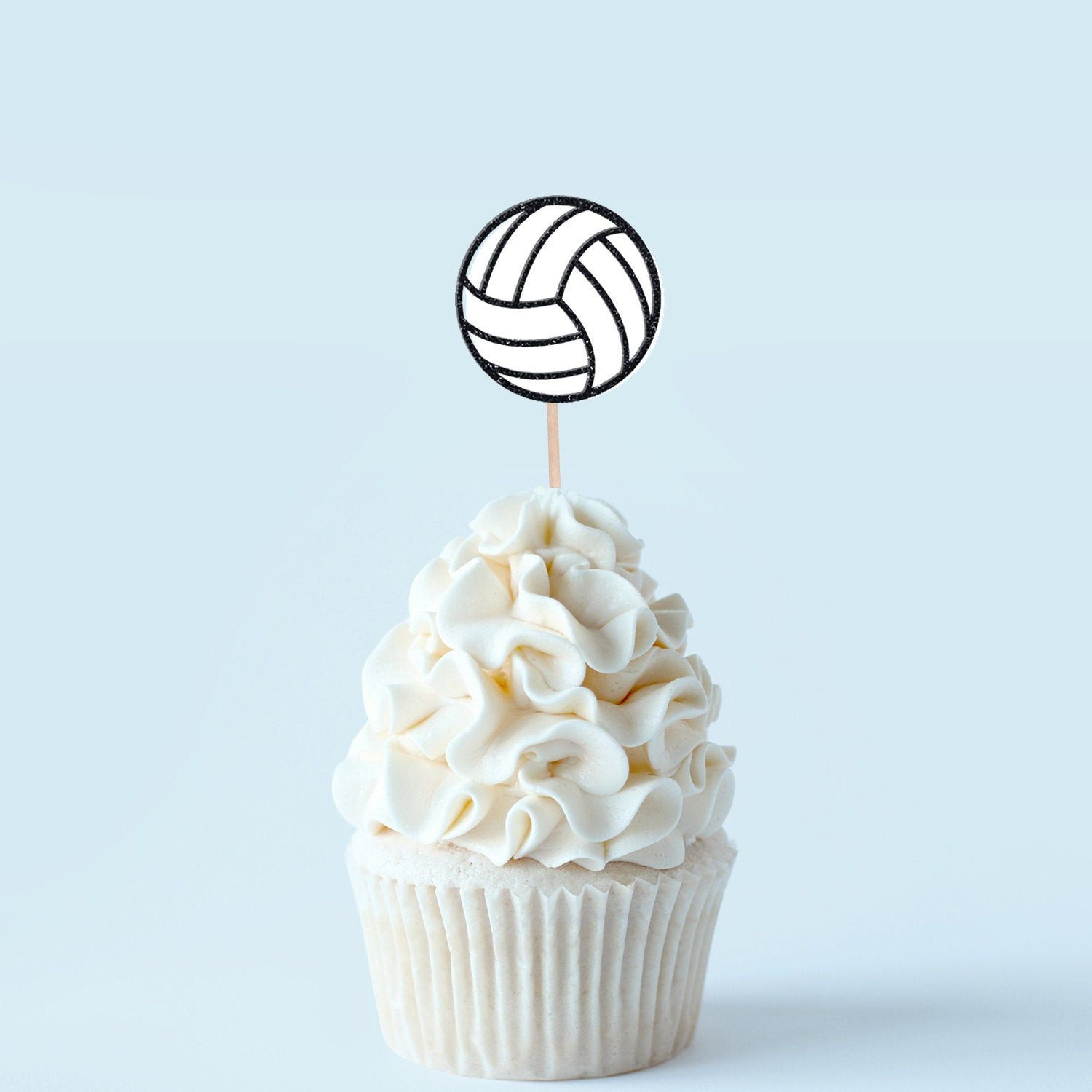 Volleyball Cupcake Topper Sports Decoration Volleyball Player Celebration In 2020 Volleyball Cupcakes Cupcake Toppers