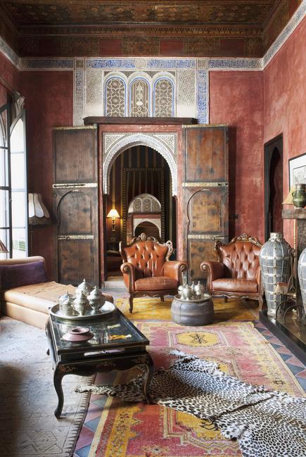 Orientalisches Wohnzimmer Das Zimmer Ist Eingerichtet Mit Alten