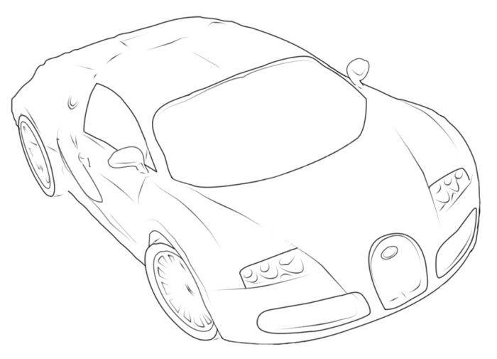 Bugatti Veyron P3 Coloring Page Bugatti Pinterest Bugatti - bugatti coloring pages