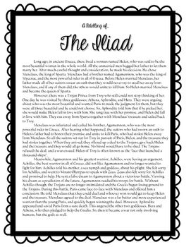 This Is A Retelling Of The Epic The Iliad By Homer With Questions  This Is A Retelling Of The Epic The Iliad By Homer With Questions And  Activities There Is A Character Sheet Where Students Identify And Describe   Sample Narrative Essay High School also Process Paper Essay  Do My Work For Me