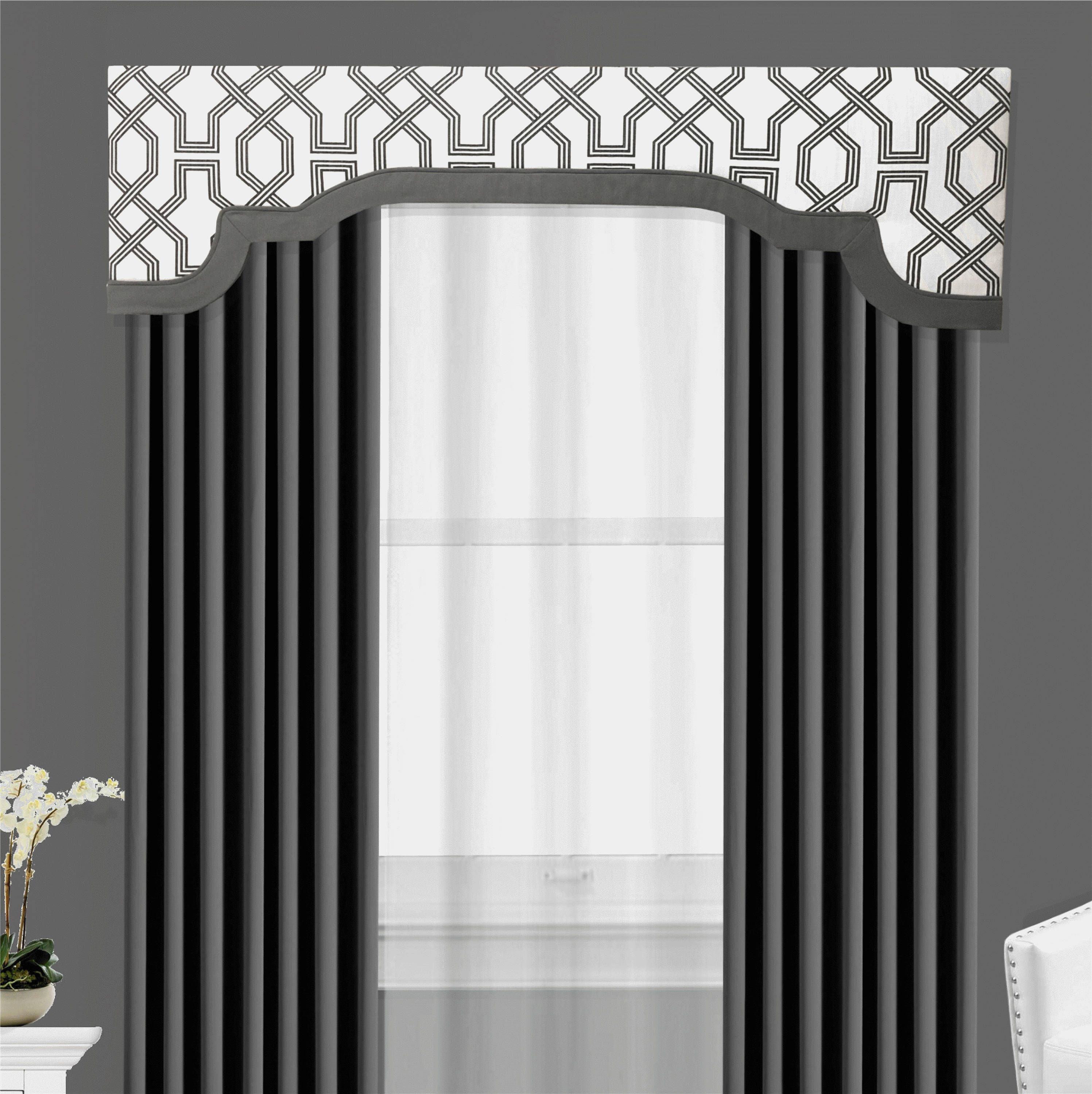 Window Cornice Board Valance Box Banded Cornices By Designer Homes In Scott S Living Ander Graphite Gray Luxe Linen This Modern