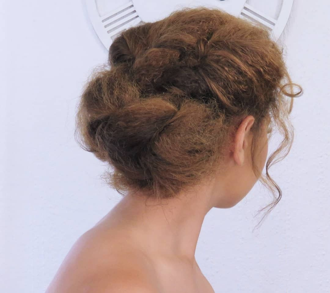 Twisted Upstyled Hair With Curled Whisps Twist Hairstyles Dance Hairstyles Hair Styles