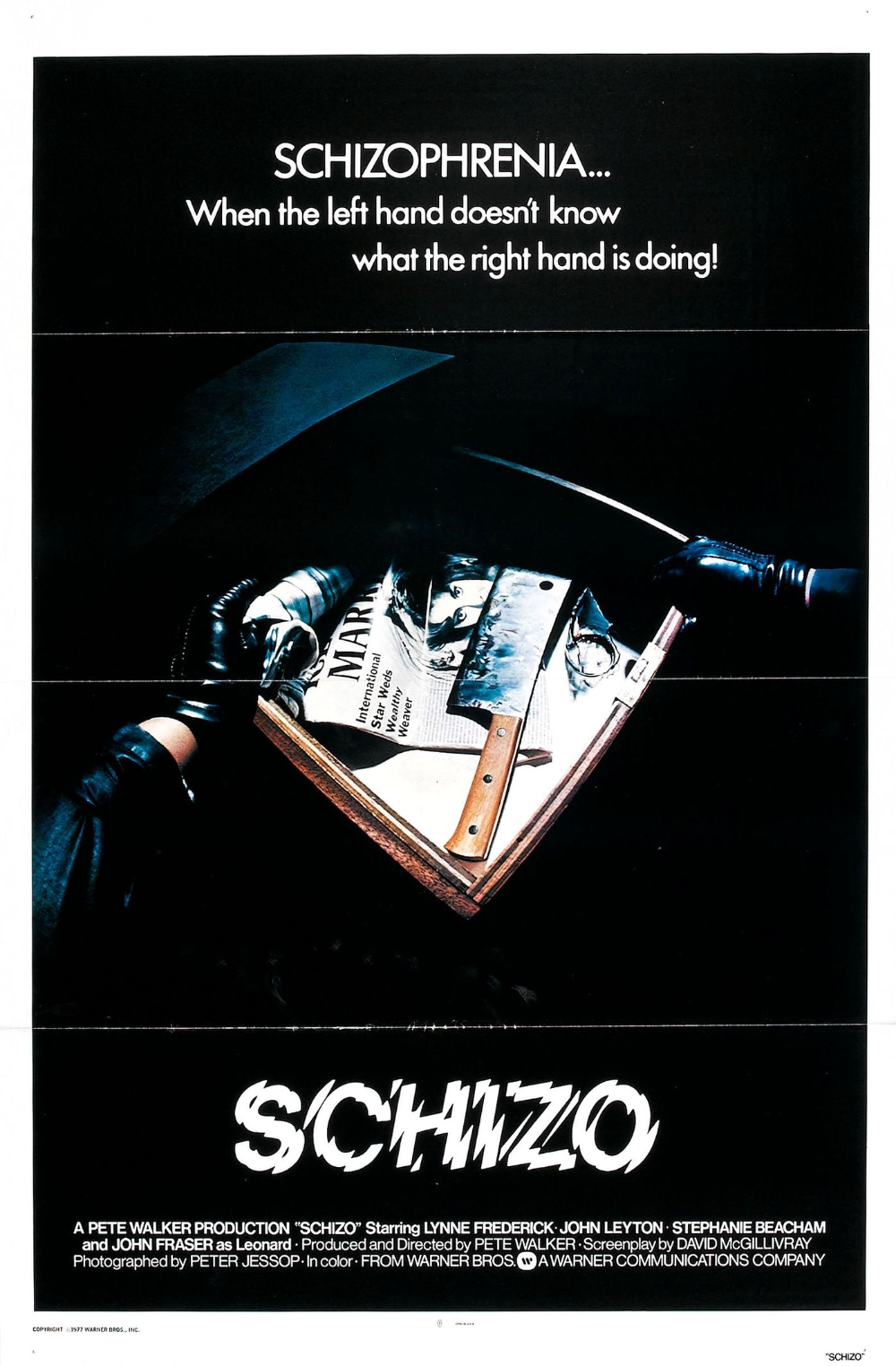 Schizo movie posters Fonts In Use Movie posters