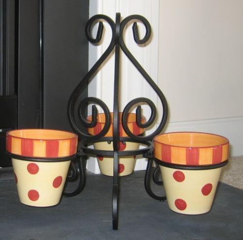 Southern Living At Home Gail Pittman Pots Stand Siena NIB