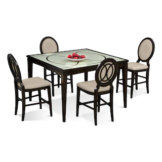 Cosmo Counter Height Dining Table And 4 Dining Chairs 4 Dining