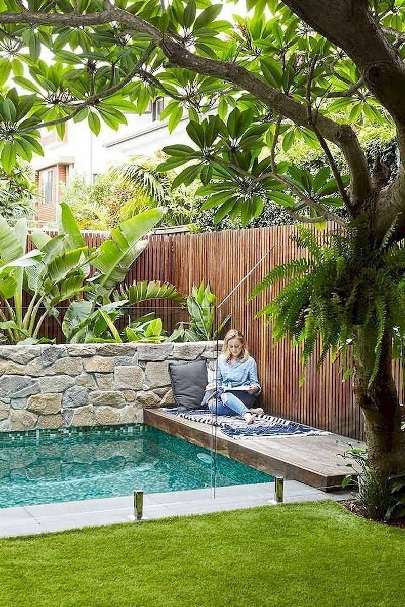 78 Cozy Swimming Pool Garden Design Ideas On A Budget With Regard To Pool Garden Ideas Small Backyard Pools Backyard Design Small Pool Design