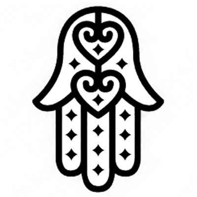 Hamsa Stencil Hamsa or hand of fatima ~ Mano de fatima Mandalas para colorear