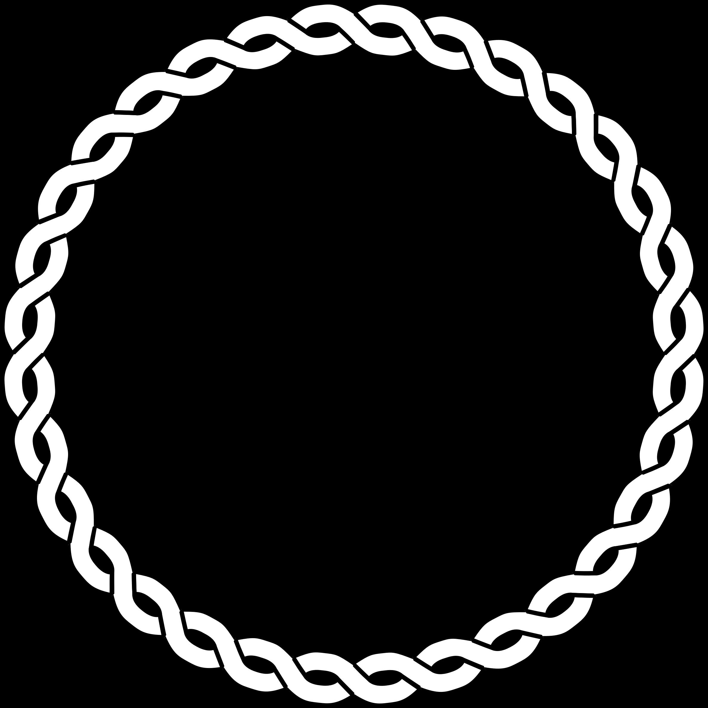 Rope Border Circle Diy Leather Bracelet Clip Art Borders Circle