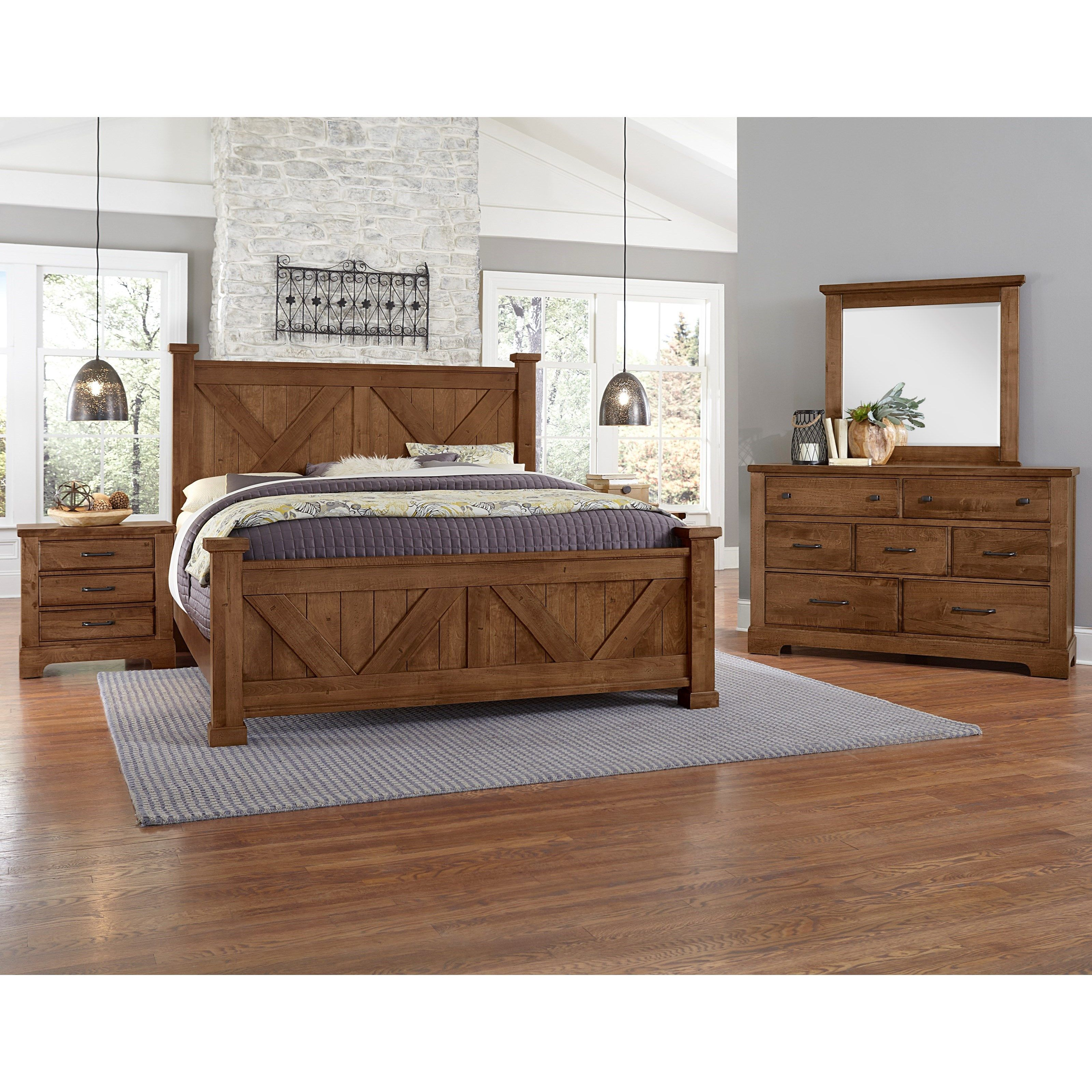 Cool Rustic Queen Bedroom Group by Artisan Farmhouse